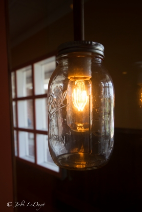 This is one of the lights around the bar seating area at The Hidden Still in Ellington- CT's first Moonshine Bar & Restaurant.