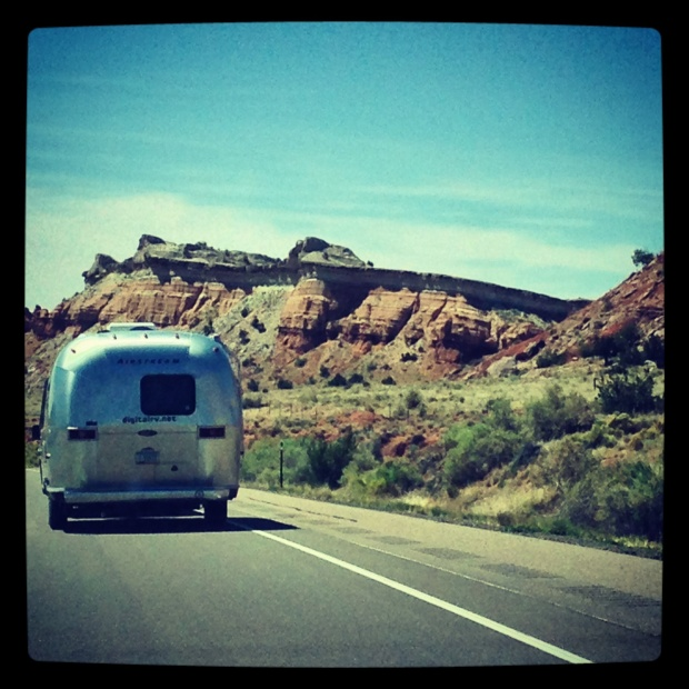 Following the Airstream through New Mexico. Waving goodbye to the southwest.