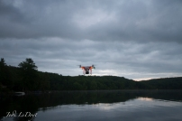 Our DJI Phantom doing its thing with the GoPro