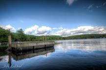 Dock in the glassy water