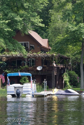 This is an atypical house you find on Manchaug Pond. It just looks like a fun house to be in.