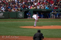 Lester's first pitch
