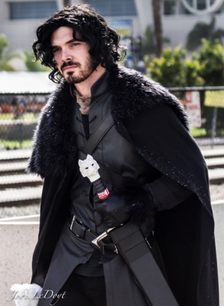 Jon Snow had to be melting in this heat