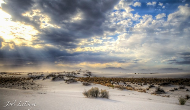 White Sands...the clouds showed up!